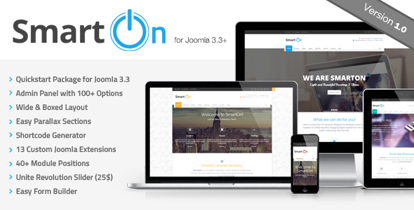 ThemeForest SmartOn Multi-Purpose Ultimate Joomla Theme 8742065
