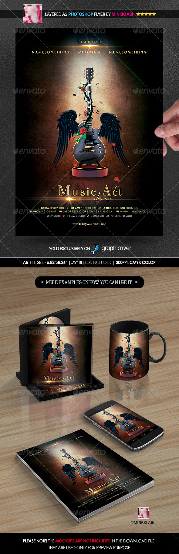 GraphicRiver Music Drama Act Poster Flyer 8742070