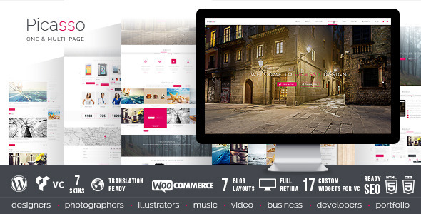 Picasso - Responsive Multi-Purpose Wordpress Theme - Corporate WordPress