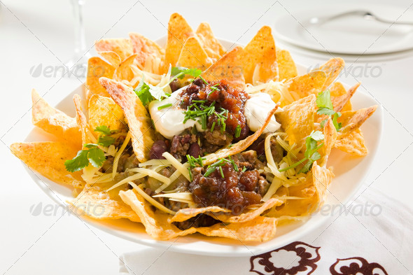 Tasty Crunchy Nachos - Stock Photo - Images