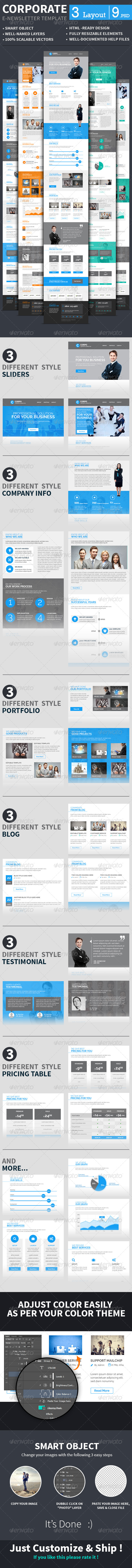 GraphicRiver Corporate E-newsletter Template 8726361