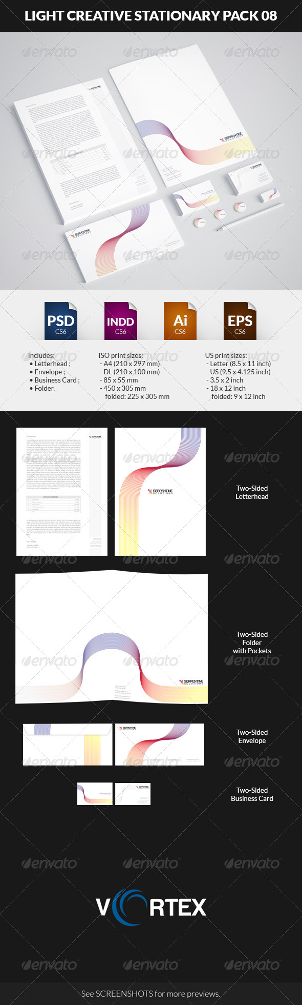 GraphicRiver Light Creative Stationary Pack 08 8742632