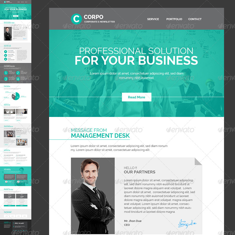 Corporate E Newsletter Template By Kalanidhithemes