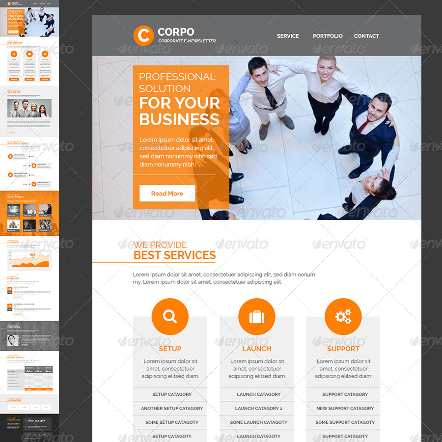 preview 09 corporate email template