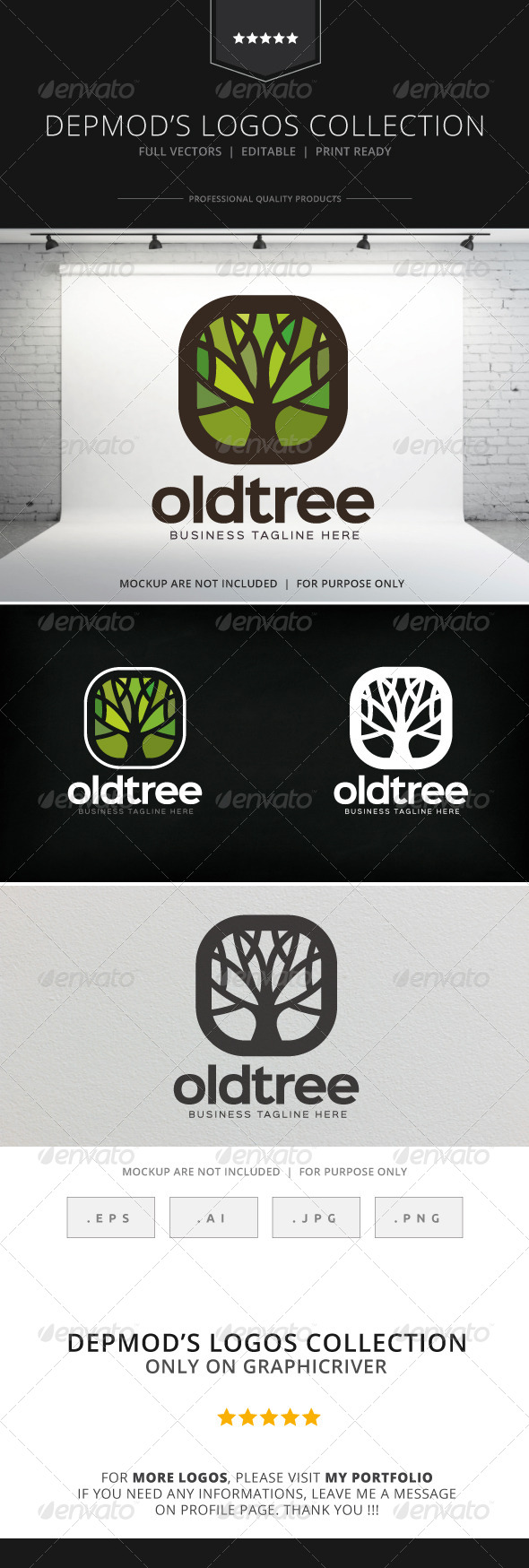 GraphicRiver Old Tree Logo 8742682