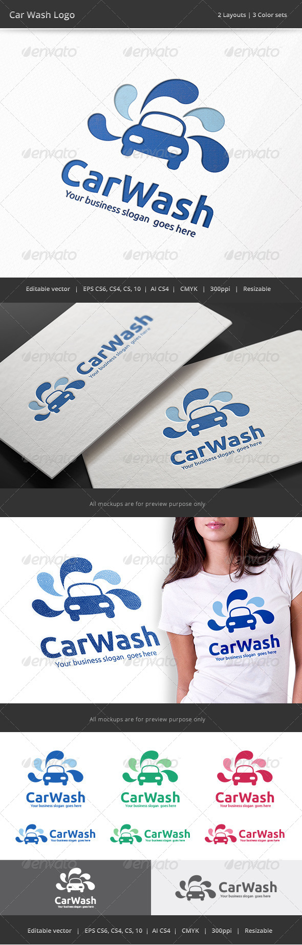 GraphicRiver Car Wash Logo 8742683