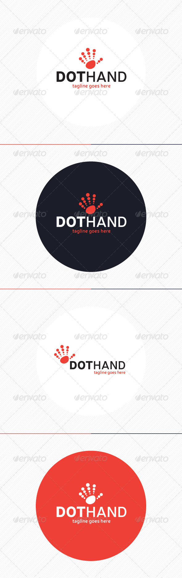 GraphicRiver Dot Hand Logo 8742775