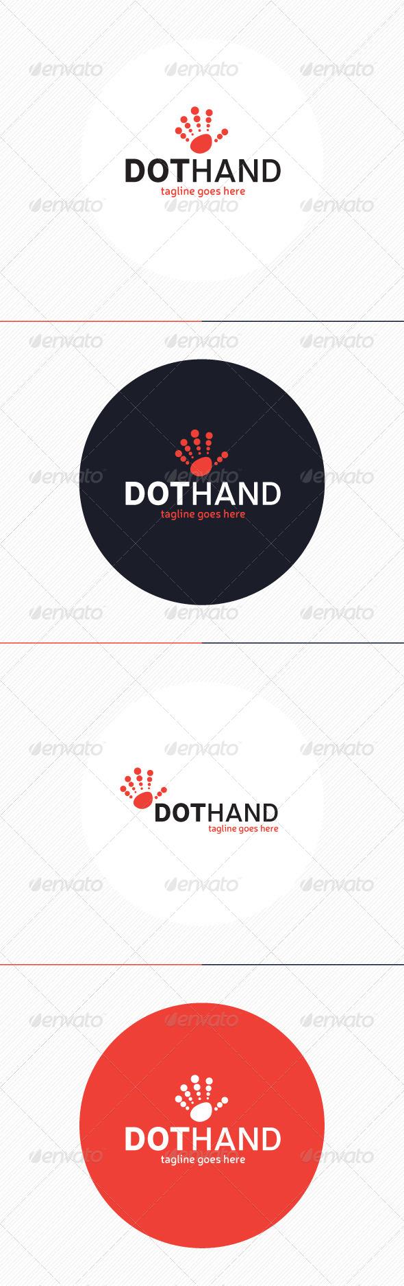 GraphicRiver Dot Hand Logo 8742775