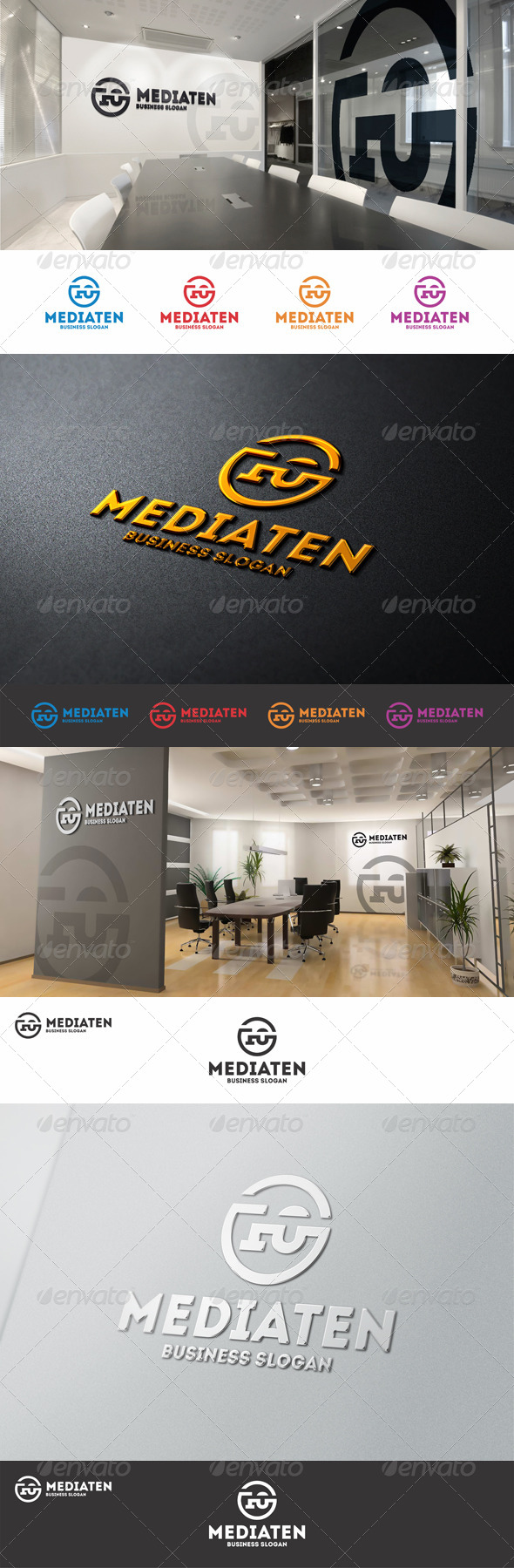 GraphicRiver Number Ten Media Logo 8742869