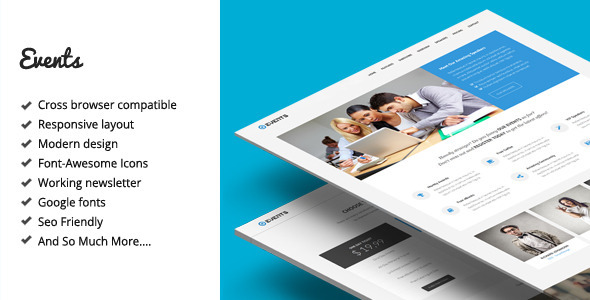 Events - Responsive Landing Page Template Download