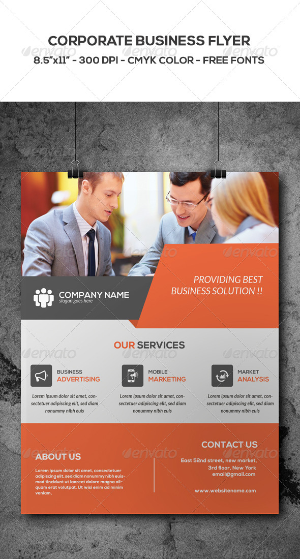 GraphicRiver Corporate Business Flyer 8744109