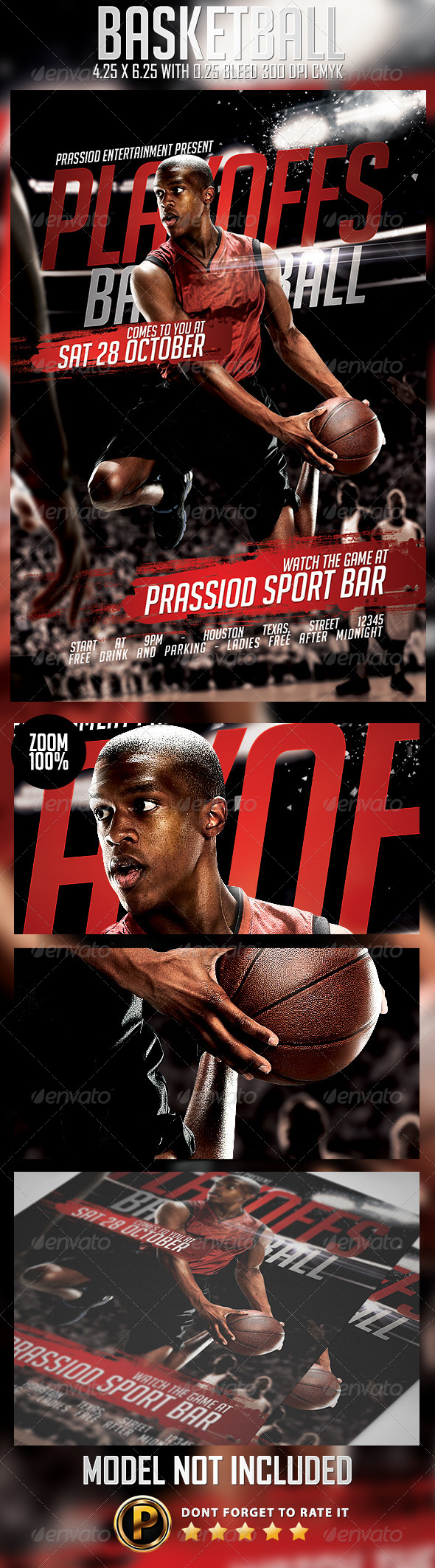 GraphicRiver Basketball Flyer Template 8744136