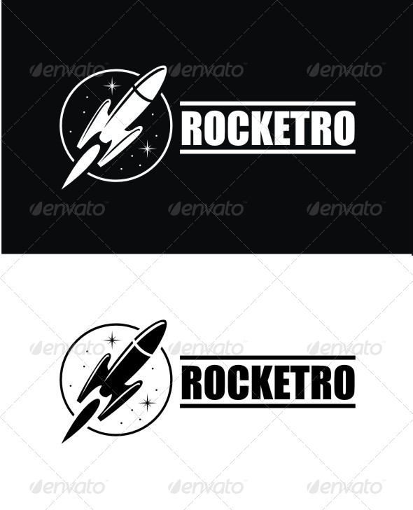 GraphicRiver Rocketro Logo 8744150