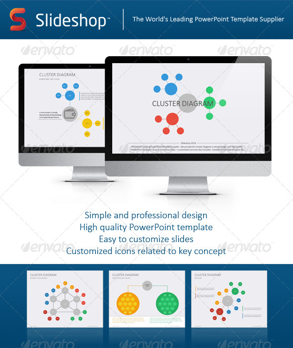 GraphicRiver Cluster Diagram Flat 8744265