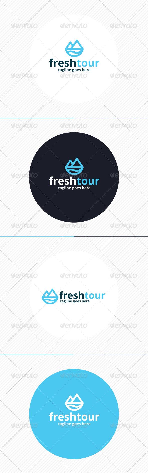 GraphicRiver Fresh Tour Logo 8744509