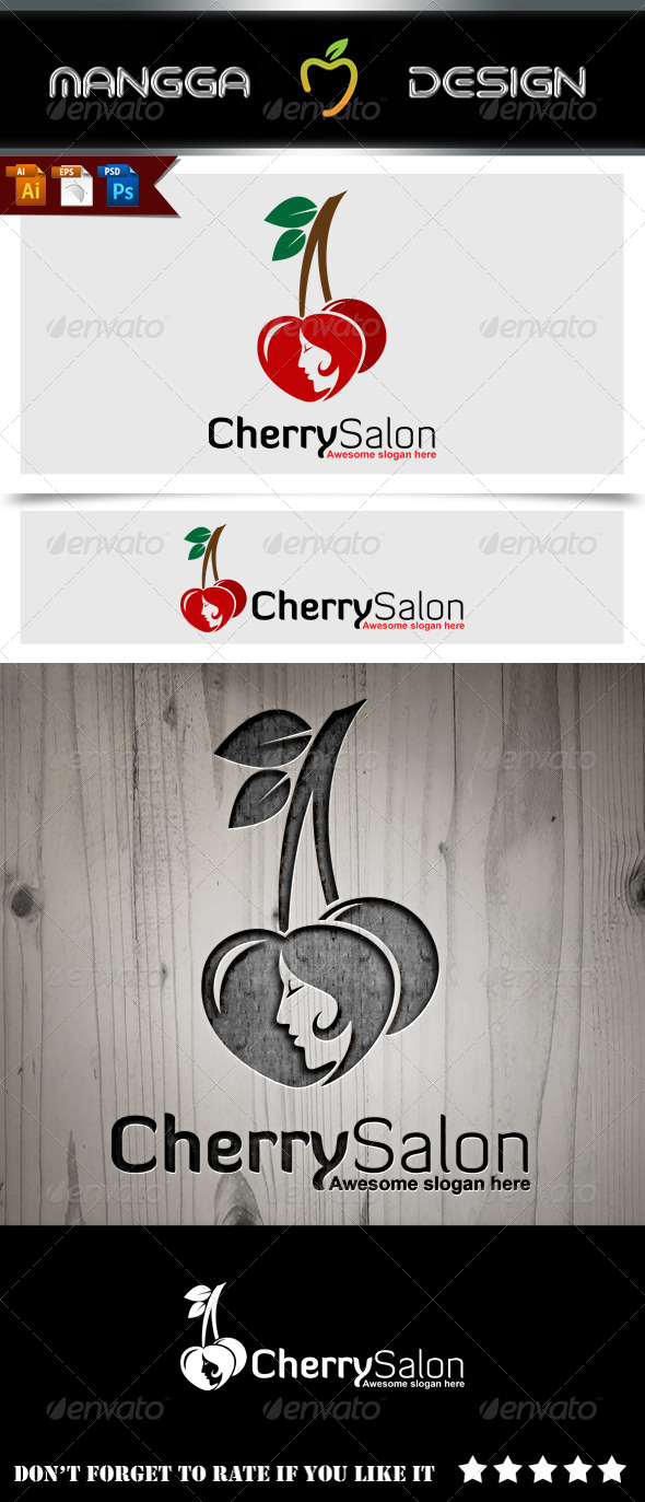 GraphicRiver Cherry Salon Logo 8744893