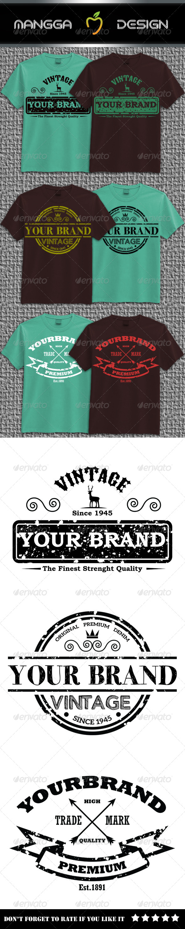 GraphicRiver Vintage Brand T-shirt 8744902
