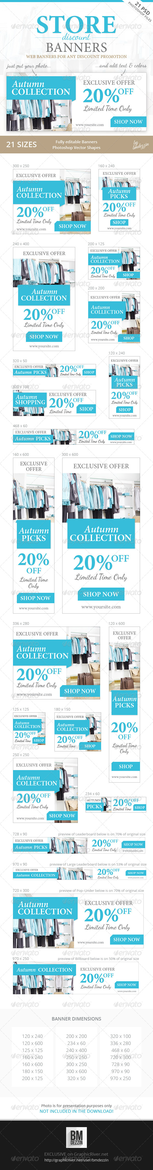 GraphicRiver Store Discount Banners 8744939