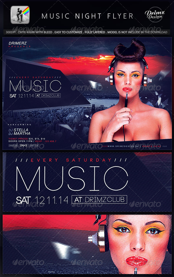GraphicRiver Music Night Flyer 8744994