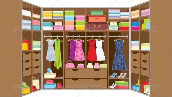 GraphicRiver Wardrobe Room 8745240