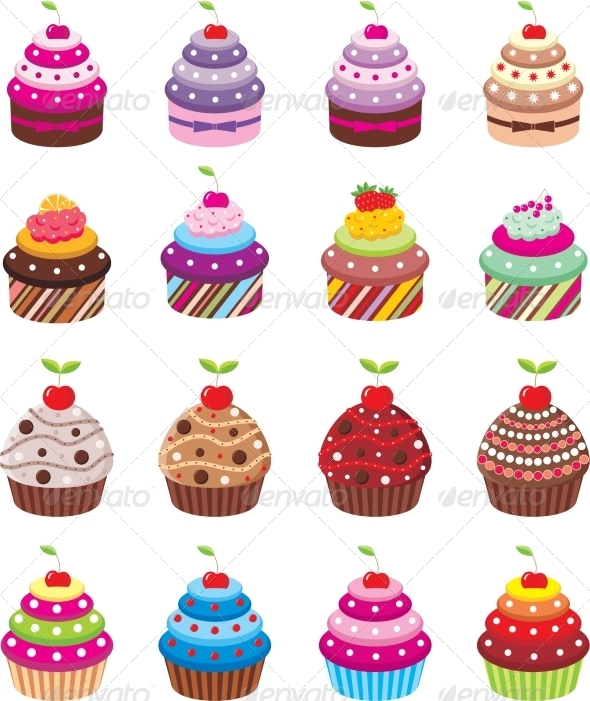GraphicRiver Cupcakes 8745246