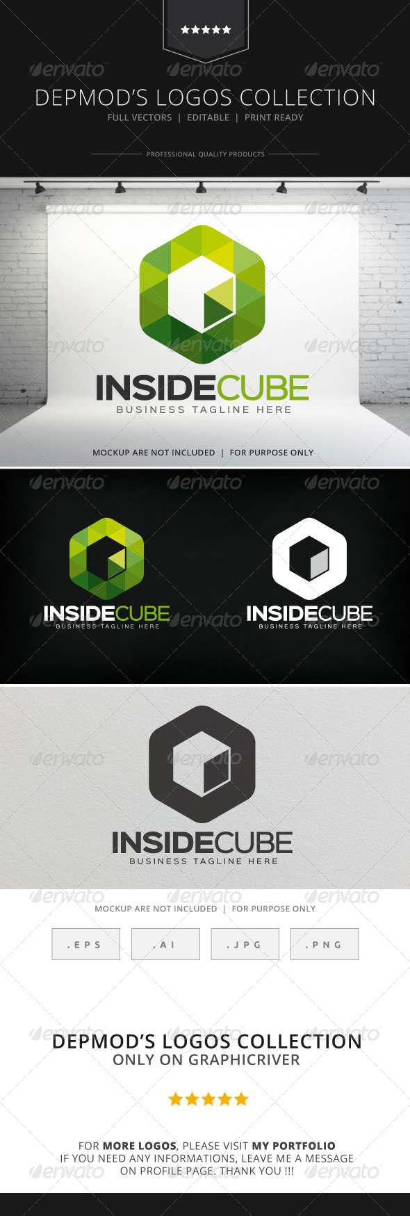 GraphicRiver Inside Cube Logo 8745415
