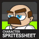 Plumber Character Sprite Sheet - GraphicRiver Item for Sale