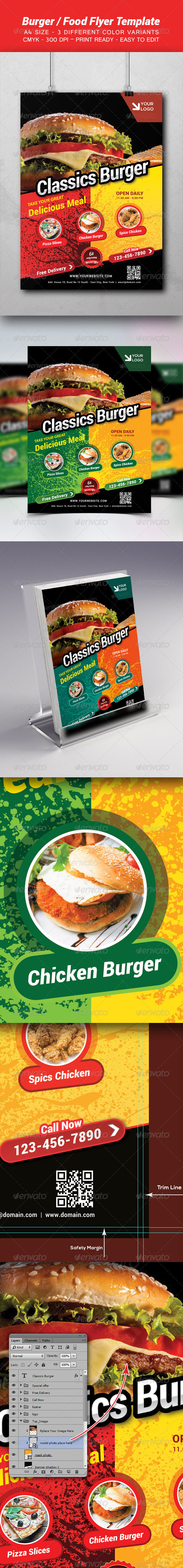 GraphicRiver Burger Food Template 8724063