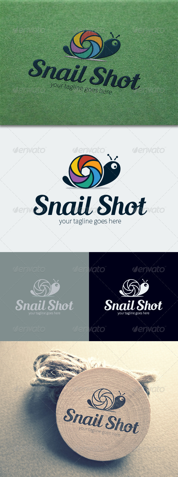 GraphicRiver Snail Shot Logo Template 8745742