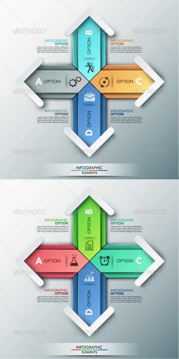 GraphicRiver Modern Infographic Options Banner 2 Colors 8745745