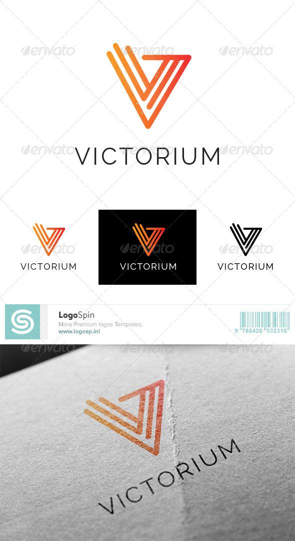 GraphicRiver Victorium V Letter Logo 8745748