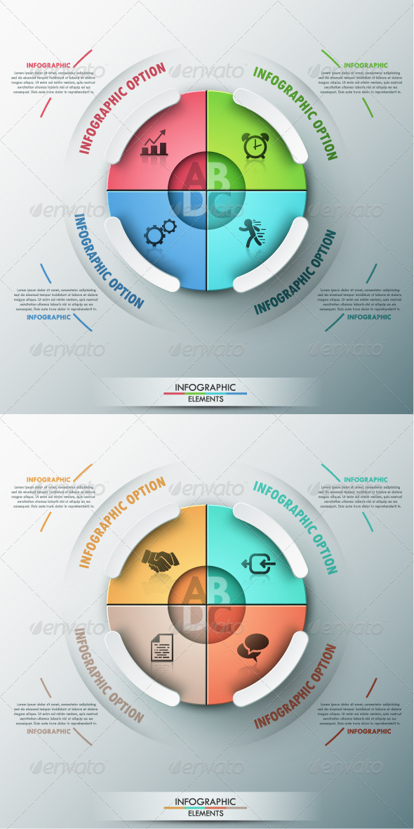 GraphicRiver Modern Infographic Options Banner 2 Colors 8745776