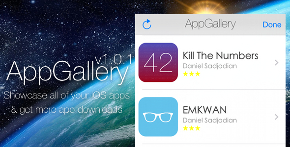 CodeCanyon AppGallery Showcase your iOS Apps 8688082
