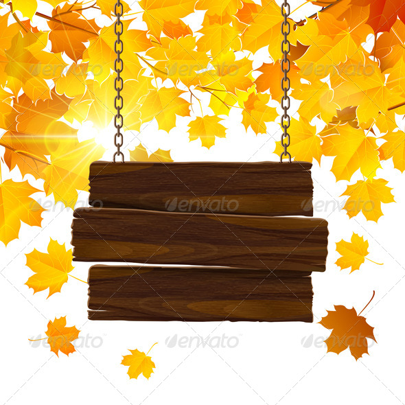 GraphicRiver Autumn Leaves Background 8745849