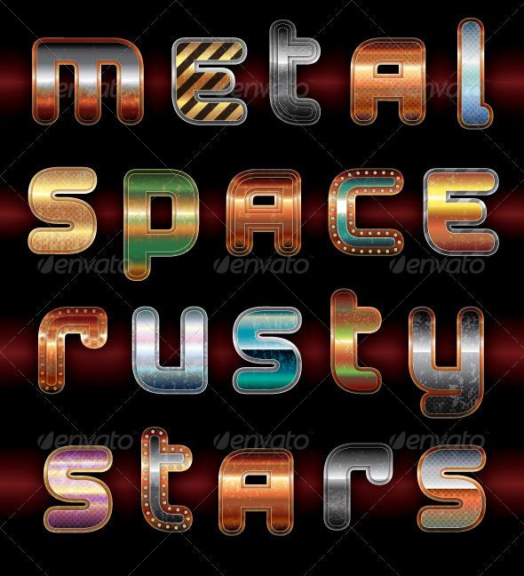 GraphicRiver Sci-Fi Metal Styles 8745953