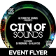 City of Sound Futuristic Flyer V-02 - GraphicRiver Item for Sale