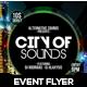 City of Sound Futuristic Flyer V-02