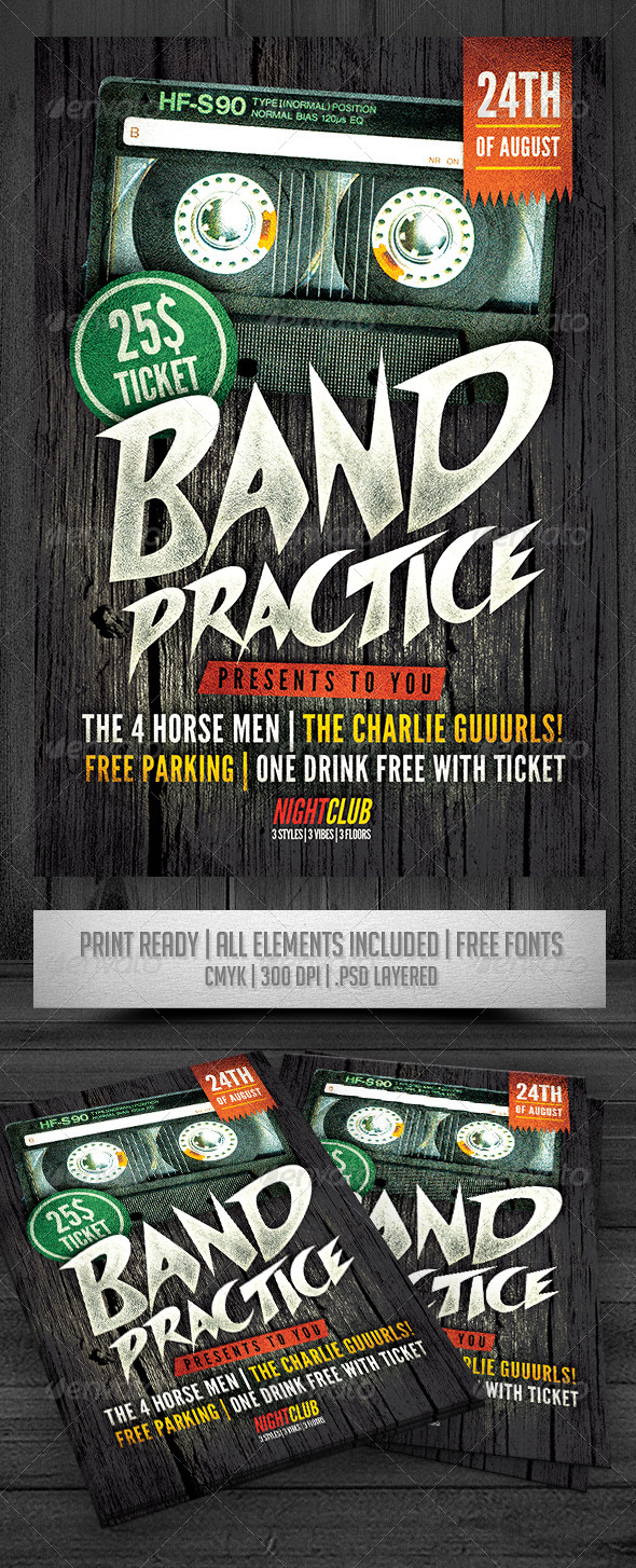 GraphicRiver Band Practice Flyer 8745981