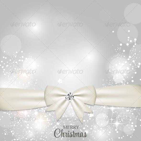 GraphicRiver Christmas Glossy Star Background with Ribbon Vector 8745988