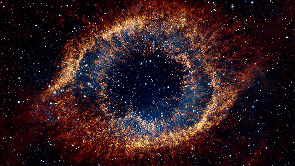 Flying Into An Eye Galaxy