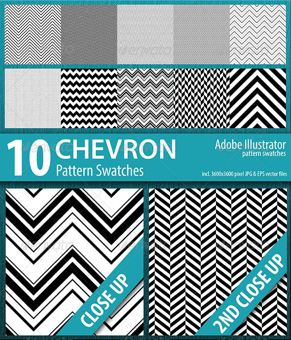 GraphicRiver 10 Chevron Stripes Pattern Swatches 8746030