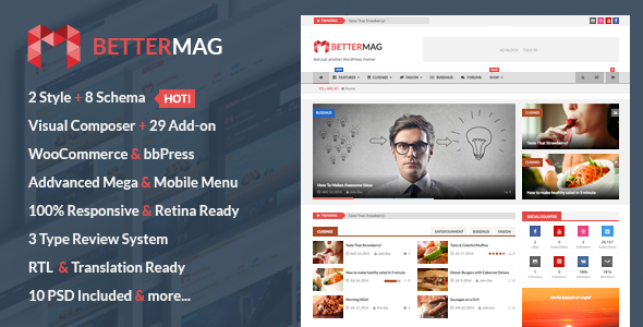 ThemeForest BetterMag Magazine Review Shop WordPress Theme 8746038