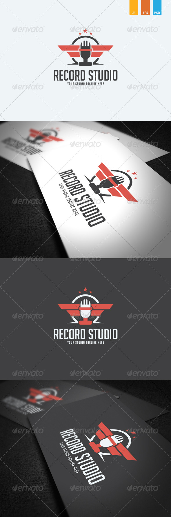 GraphicRiver Record Studio Logo Template 8746075