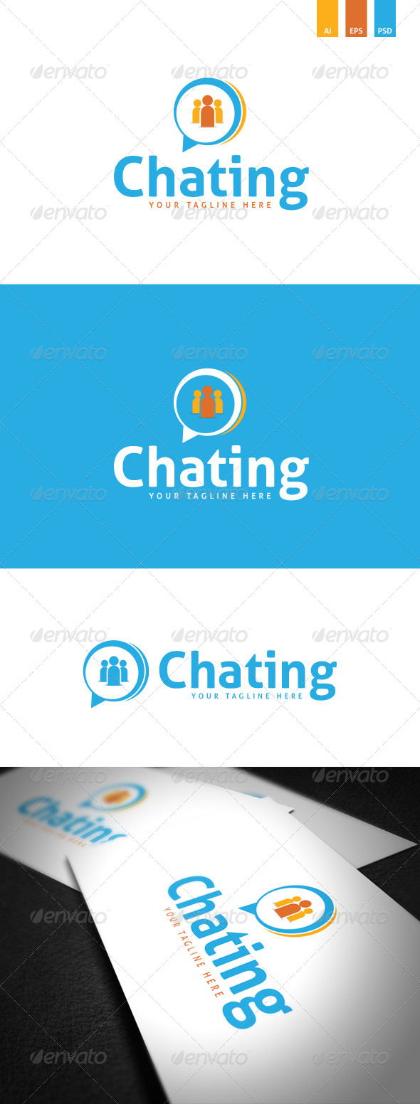 GraphicRiver Chating Logo Template 8746076