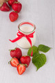 Homemade yogurt and strawberries - PhotoDune Item for Sale