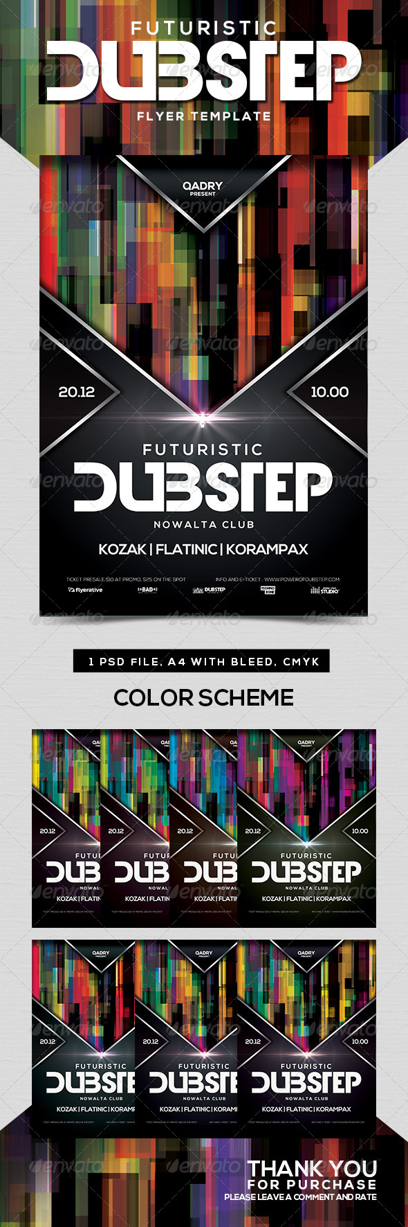 GraphicRiver Futuristic Dubstep Flyer Template 8746109