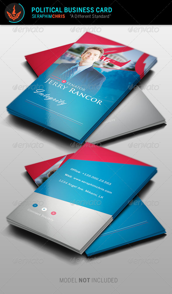 GraphicRiver Political Election Business Card Template 8746118