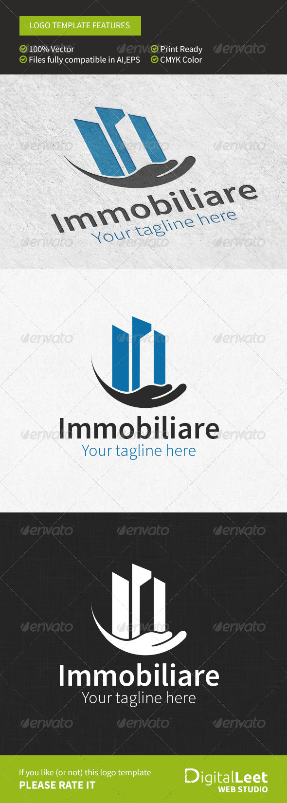 GraphicRiver Immobiliare Real Estate Logo Template 8746184