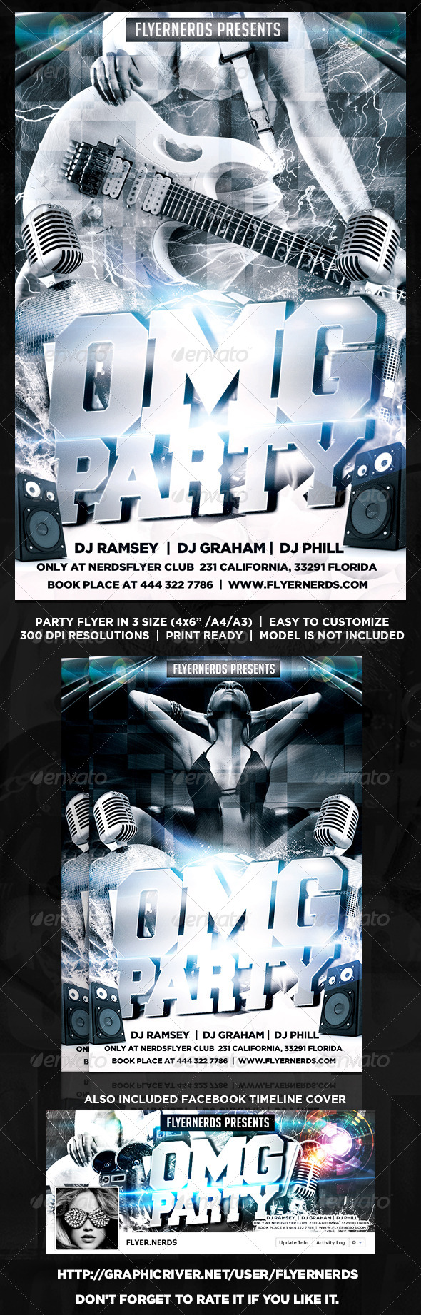 GraphicRiver OMG Party Flyer 8715881