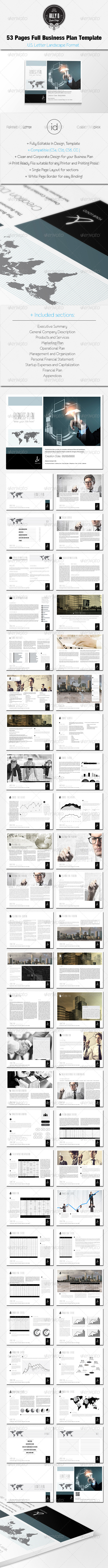 GraphicRiver 53 Pages Full Business Plan Template U.S Letter 8746274